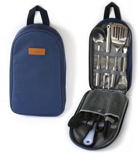 Portable Outdoor Utensil Kitchen Set-9 Piece Cookware Kit